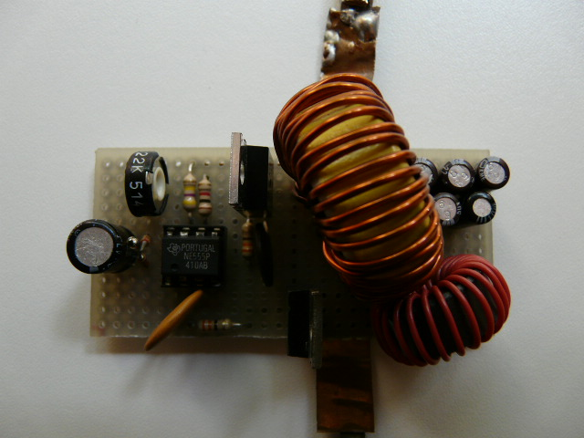 homemade desulfator's side components