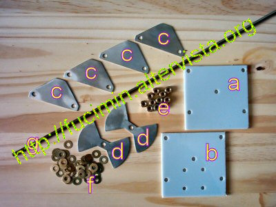 butterfly capacitor's components for magnetic loop antenna