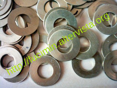 brass washers for magnetic loop antenna