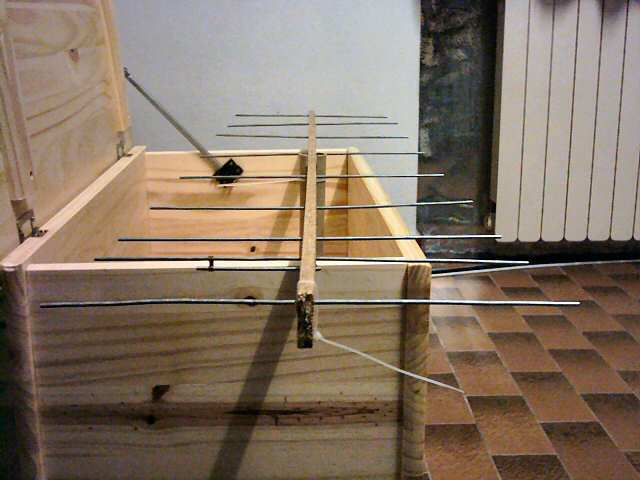 homemade 9 elements yagi antenna for PMR446