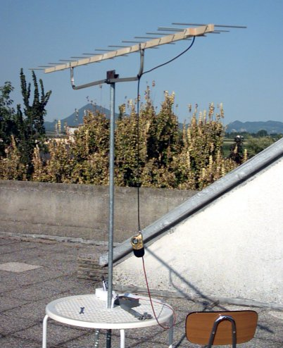 homemade yagi 14 elements antenna PMR446